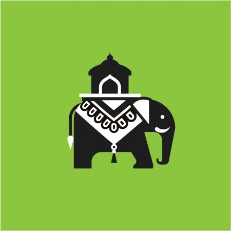 indian elephant: Ilustraci�n elefante indio