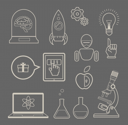 set of icons for innovation and science Vector