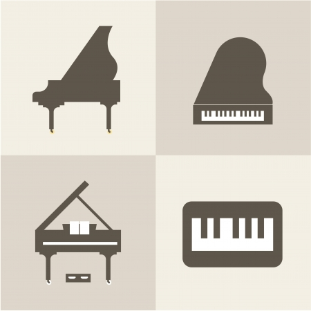 piano icons Stock Vector - 21661042