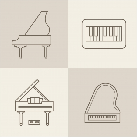 piano icons Stock Vector - 21661043