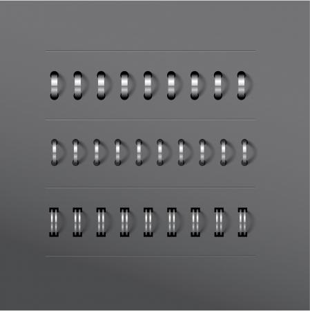 metal sheet: Vecto set of various notebook spiral designs