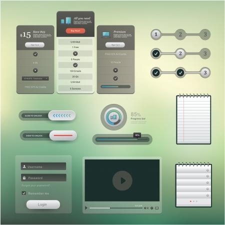 사용자 인터페이스 프로젝트에 사용되는 다양한 요소의 집합