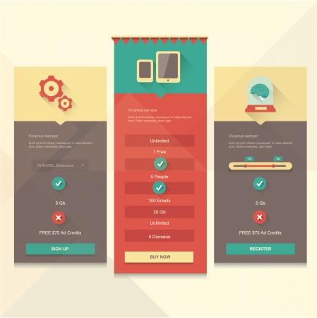 Price table UI Illustration
