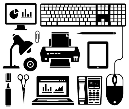 computer graphic: Office icons Illustration