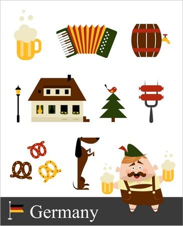 german beer: Germany stereotypes Illustration