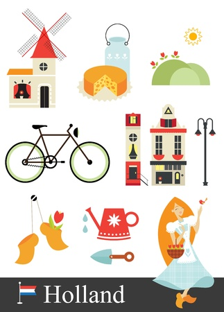 Holland stereotypes Vector