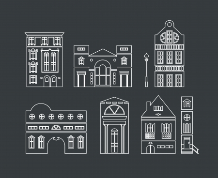 illustration of europe and american houses Vector