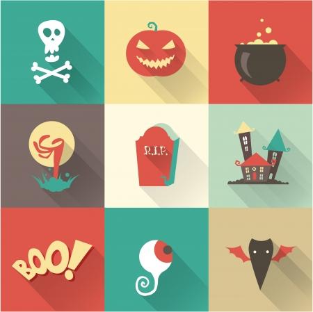 jack pot: Vector Iconos de halloween Vectores