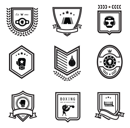 sportsmen: Vector Boxing icons
