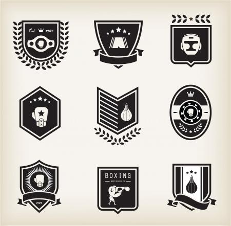 guantes de boxeo: Boxeo iconos vectoriales Vectores