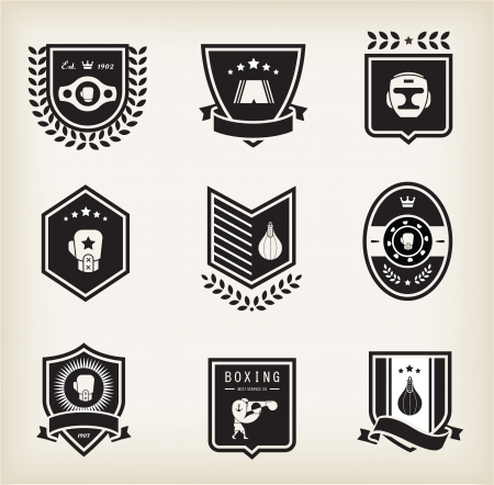 boxing gloves: Vector Boxing icons
