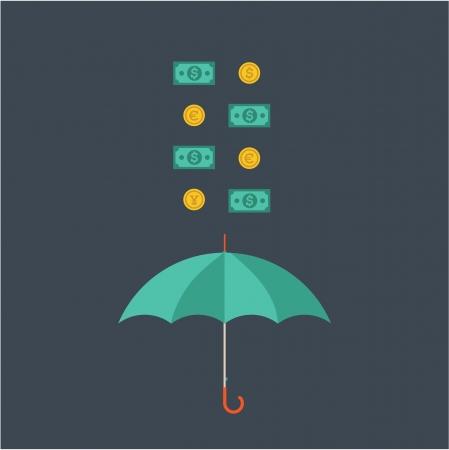 consept: Vector umbrella Illustration