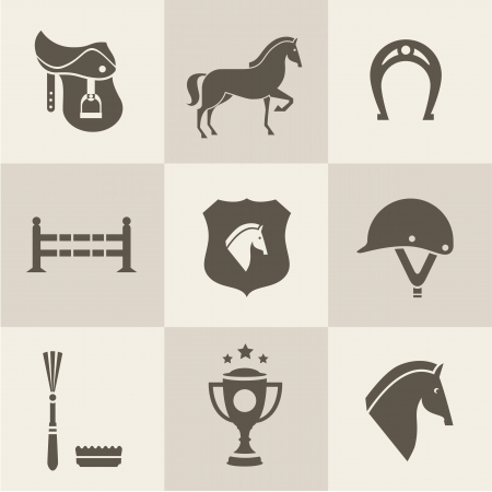Vectir Horse icons set Vector