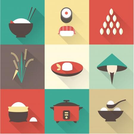 arroz: Arroz iconos vectoriales