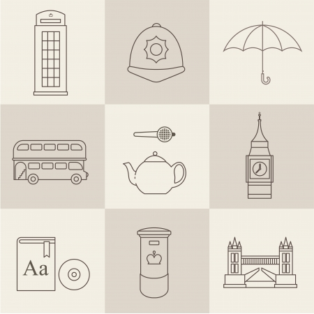 London vintage icons vectors Stock Vector - 24540755