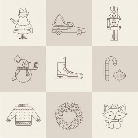 christmas cracker: christmas icons vector