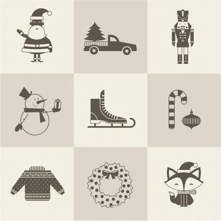 nut cracker: christmas icons vector