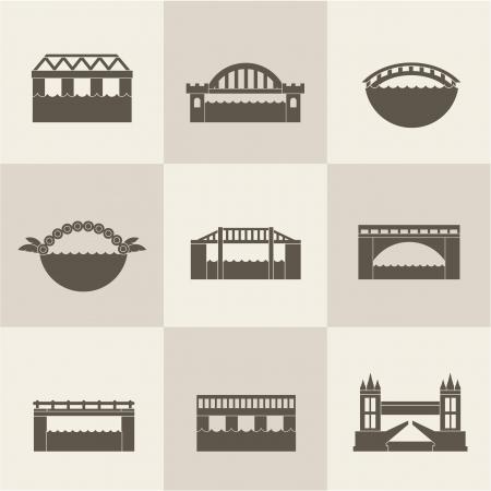 old bridge: bridge icon set