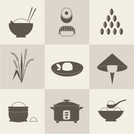 rice plate: rice icons