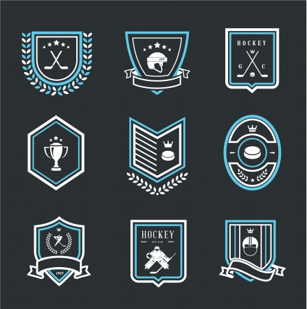 felder: Hockey-Sport-Symbole