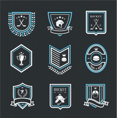 hockey rink: iconos del deporte del hockey