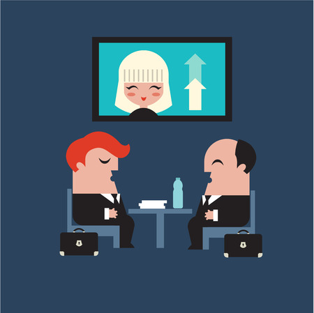 conference meeting: conference meeting business vector flat icons illustration Illustration