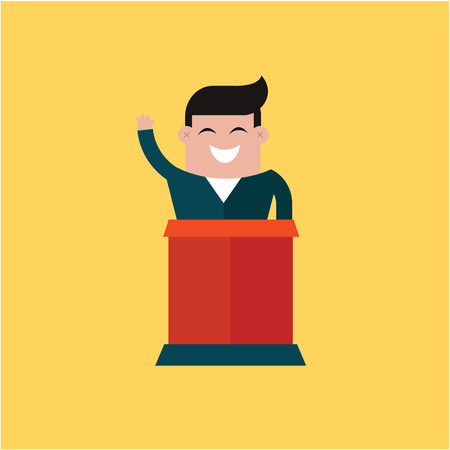 congresses: Conference icons vector illustration set flat cute design