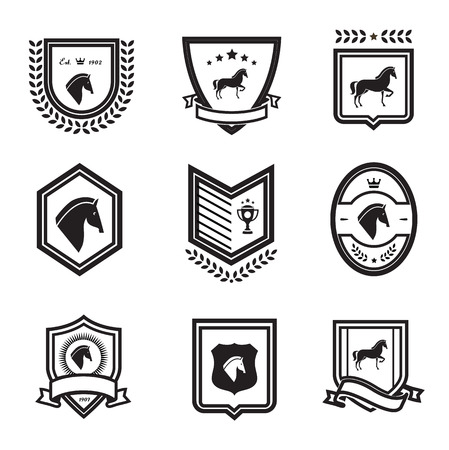horse badges Vector