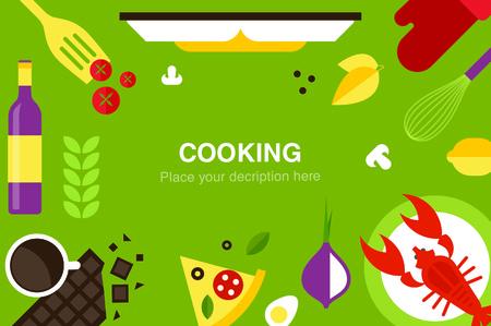 recipe book: cooking desk header