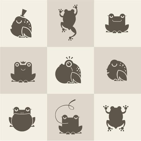 개구리 문자 평면