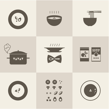 soup pot: Vector soup icon