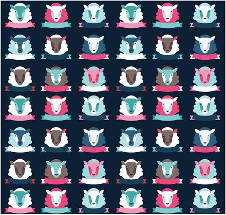 selebration: seamless pattern ship background