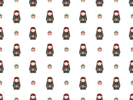matreshka: russian doll matreshka seamless pattern