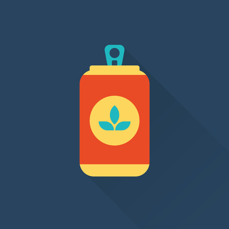 drink can: beer can flat style icon Illustration