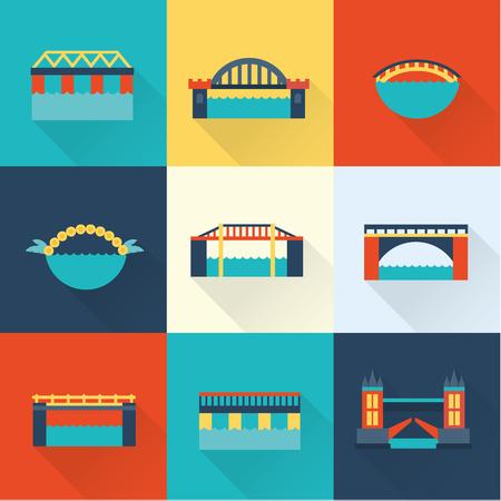 drawbridge: Vector bridge flat icon