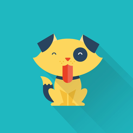 good shepherd: Vector Dog Illustration