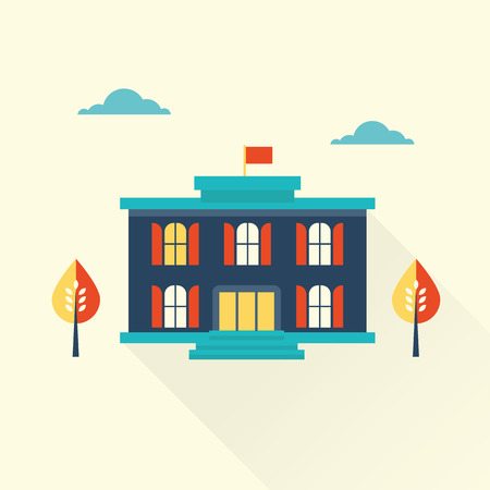 frontage: vector flat library icon