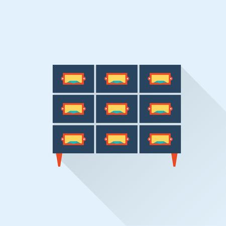 gran angular: vector biblioteca plana icono cat�logo de tarjetas