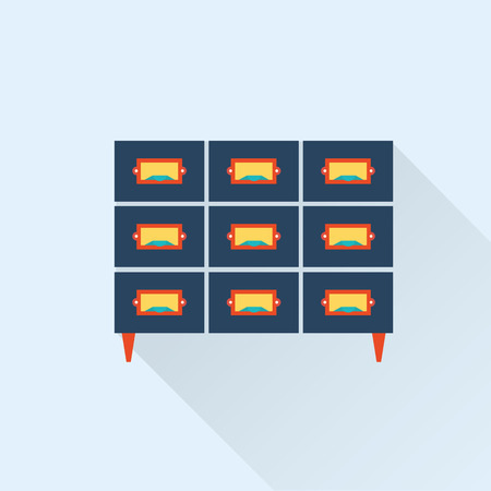 lookup: vector flat library card catalogue icon