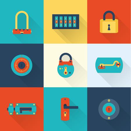 Locks icons Vector