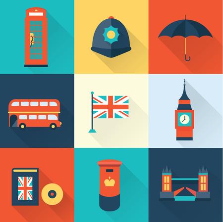 english tea: London vintage icons Illustration