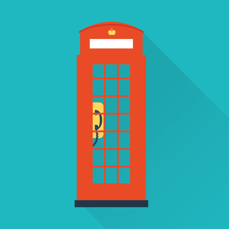 telephone booth: london telephone icon Illustration