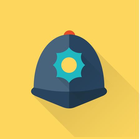 capital punishment: london police hat flat icon