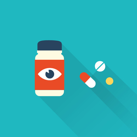 pill box: pill icons Illustration
