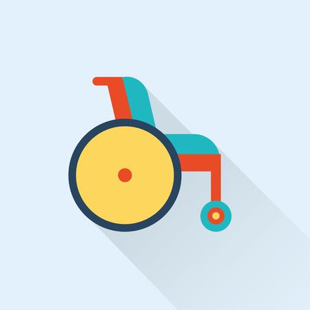 wheel chair: wheel chair icon Illustration