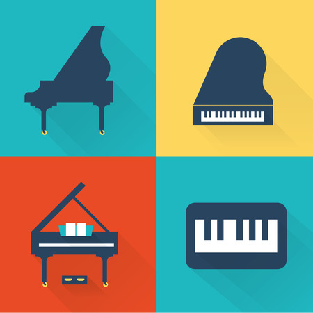 Piano pictogrammen Stock Illustratie
