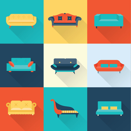 seater: Vector sofa icons