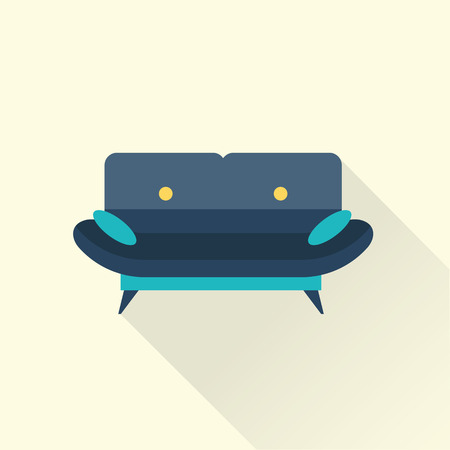 upholstered: Vector sofa icon Illustration
