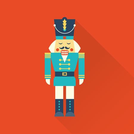 クリスマスくるみ割り人形  イラスト・ベクター素材
