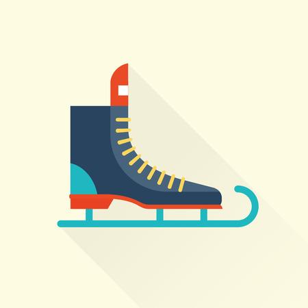 hockey skates: ice scate icon Illustration